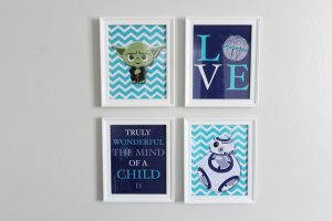 Star Wars wall art for nursery room